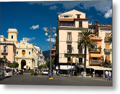 Sorrento Italy Piazza Metal Print
