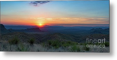 Sotol Overlook Sunset Pano Metal Print by Tod and Cynthia Grubbs