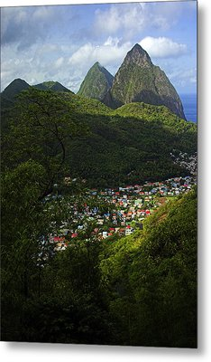 Metal Print featuring the photograph Soufriere Village- St Lucia by Chester Williams