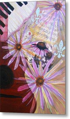 Sounds Like Flowers Metal Print by Christina Fajardo