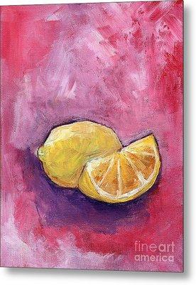 Sour Lemons Metal Print