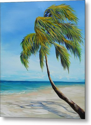 South Beach Palm Metal Print by Michele Hollister - for Nancy Asbell