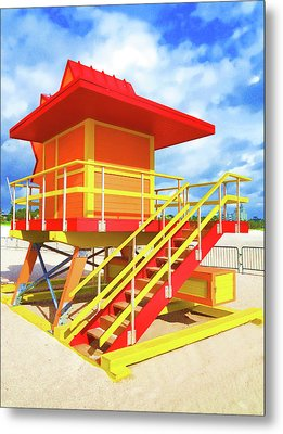 South Beach Station Metal Print by Dennis Cox WorldViews