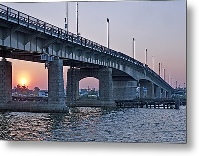 South Capitol Street Bridge Over Anacostia River In Washington Dc Metal Print by Brendan Reals