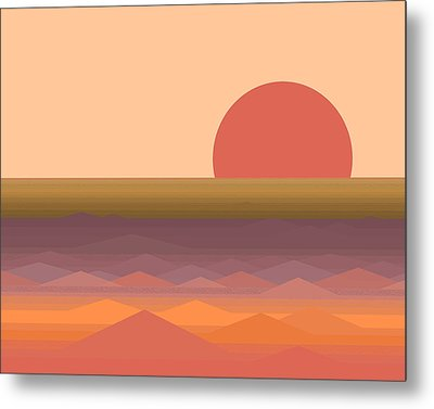 South Seas Abstract Sunrise Metal Print by Val Arie