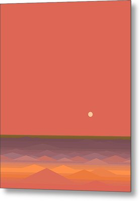 South Seas Abstract - Vertical Metal Print by Val Arie