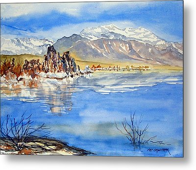 Metal Print featuring the painting South Tufa by Pat Crowther