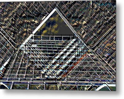 Southbank London Abstract Metal Print