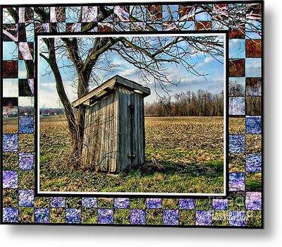 Southern Indiana Outhouse Metal Print