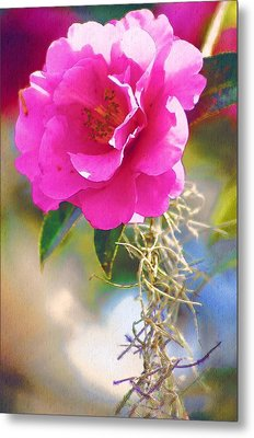 Metal Print featuring the digital art Southern Rose by Donna Bentley