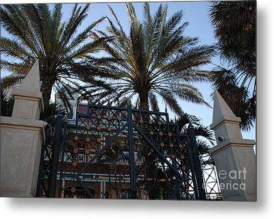 Southernmost Hotel Entrance In Key West Metal Print by Susanne Van Hulst