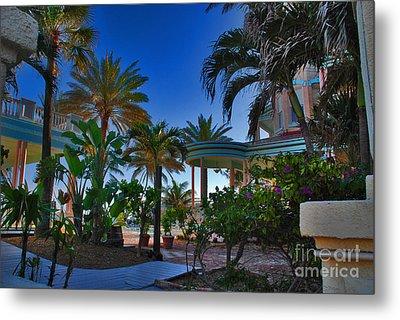 Southernmost Lush Garden In Key West Metal Print by Susanne Van Hulst