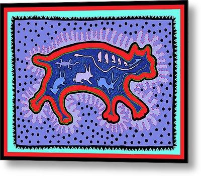 Metal Print featuring the digital art Southwest Desert Feral Cat by Vagabond Folk Art - Virginia Vivier