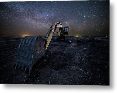 Metal Print featuring the photograph Space Excavator  by Aaron J Groen