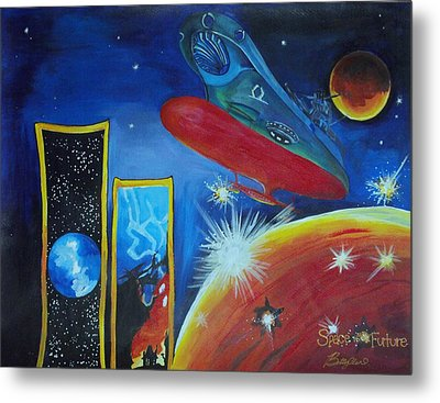 Space Of The Future Metal Print by Betty Chin