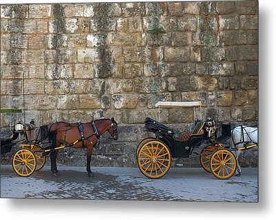 Spanish Carriage Metal Print by Carlos Caetano