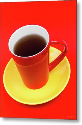 Spanish Cup Of Coffee Metal Print by Wim Lanclus