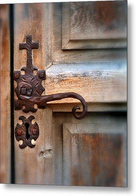 Spanish Mission Door Handle Metal Print