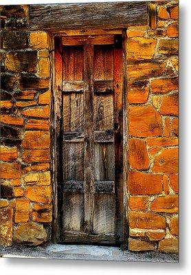 Spanish Mission Door Metal Print