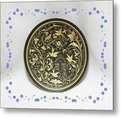 Metal Print featuring the photograph Spanish Plaque by Linda Phelps