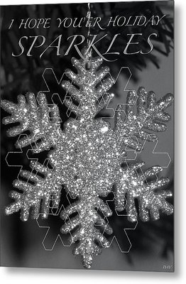 Sparkle Holiday Card Metal Print