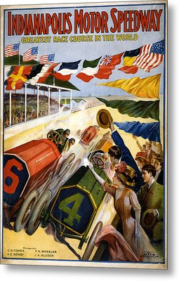 Speedway Metal Print by Charles Shoup