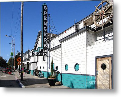 Spengers Restaurant Berkeley California Metal Print by Wingsdomain Art and Photography