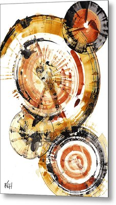 Metal Print featuring the painting Sphere Series 1020.050112 by Kris Haas