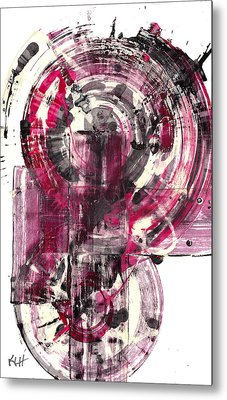 Metal Print featuring the painting Sphere Series 1026.050412 by Kris Haas