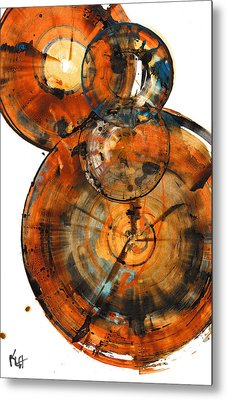 Metal Print featuring the painting Sphere Series 1027.050412 by Kris Haas