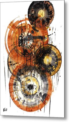 Metal Print featuring the painting Sphere Series 1028.050412 by Kris Haas