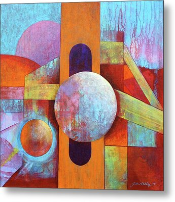 Spheres And Beams Metal Print