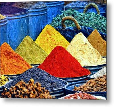 Spice Market In Casablanca Metal Print