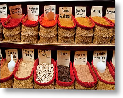 Metal Print featuring the photograph Spices  by Harry Spitz