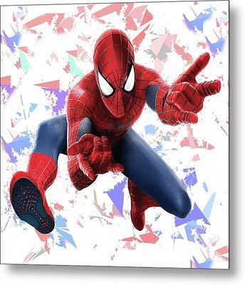 Spider Man Splash Super Hero Series Metal Print