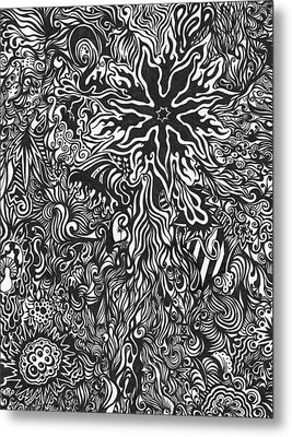 Spider's Web Metal Print by Mandy Shupp