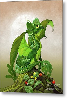 Spinach Dragon Metal Print by Stanley Morrison