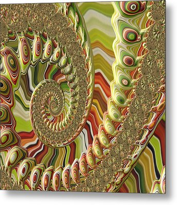 Metal Print featuring the photograph Spiral Fractal by Bonnie Bruno