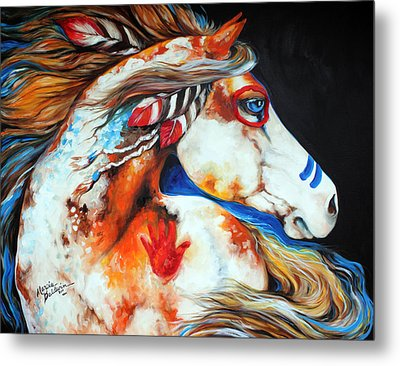 Spirit Indian War Horse Metal Print