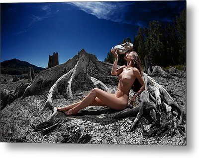 Metal Print featuring the photograph Spiritus Mundi by Dario Infini