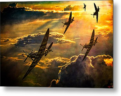 Metal Print featuring the photograph Spitfire Attack by Chris Lord