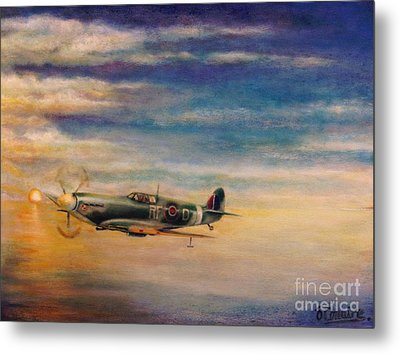 Spitfire In Flight Metal Print by Liam O Conaire