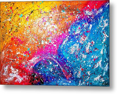 Metal Print featuring the painting Splash by Piety Dsilva