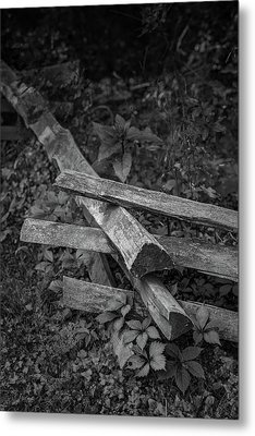 Split Rail Metal Print by Joseph Smith