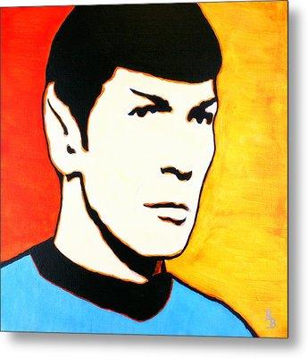 Spock Vulcan Star Trek Pop Art Metal Print