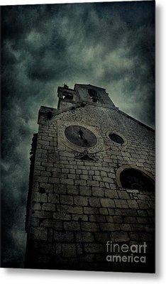 Spooky Medieval Church Metal Print
