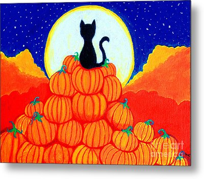 Spooky The Pumpkin King Metal Print by Nick Gustafson