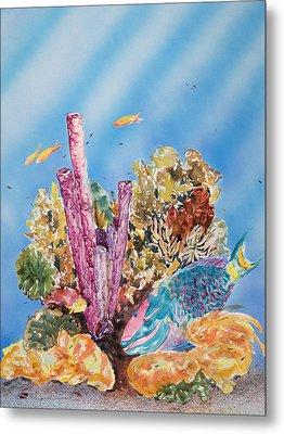 Spotlight Parrotfish Metal Print