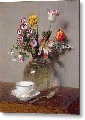 Spring Bouquet Metal Print by Ignace Henri Jean Fantin-Latour