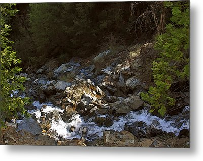 Metal Print featuring the painting Spring Creek by Larry Darnell